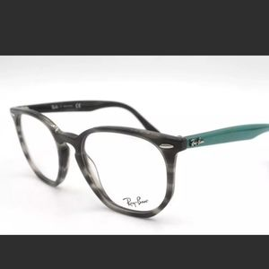 Ray Ban 7151 Gray Teal Frames Glasses with Case